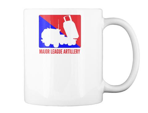 Major League Artillery White Mug Back