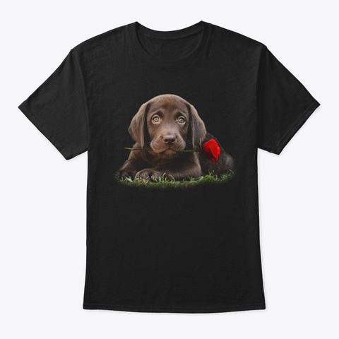 The Chocolate Lab For Dog Lovers Black T-Shirt Front