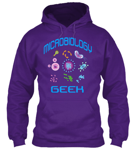 Microbiology Geek Purple T-Shirt Front
