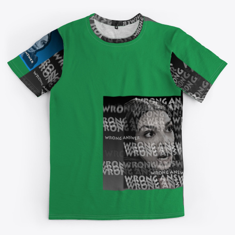Aoc Wrong Answer Green T-Shirt Front