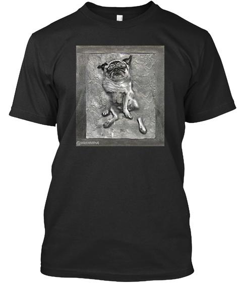 Pug In Carbonite Black Camiseta Front