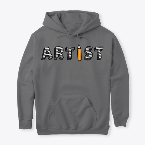 Pencil Artist Sweater Dark Heather T-Shirt Front