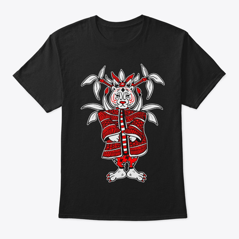 Tiger Lunar New Year Chinese Zodiac Black T-Shirt Front