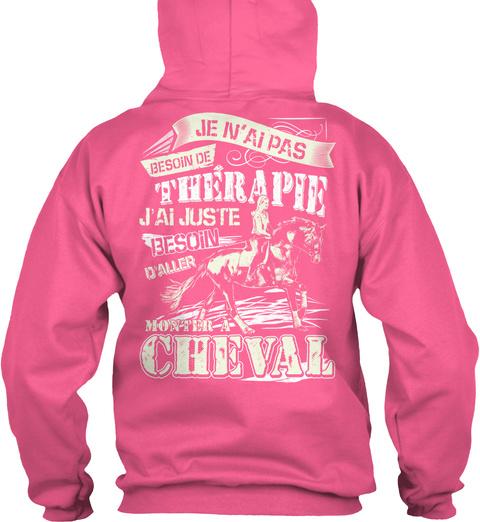 Juste Besoin D'aller Monter à Cheval Candyfloss Pink Sweatshirt Back
