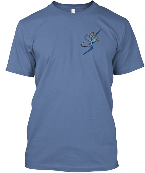 Storm Denim Blue T-Shirt Front