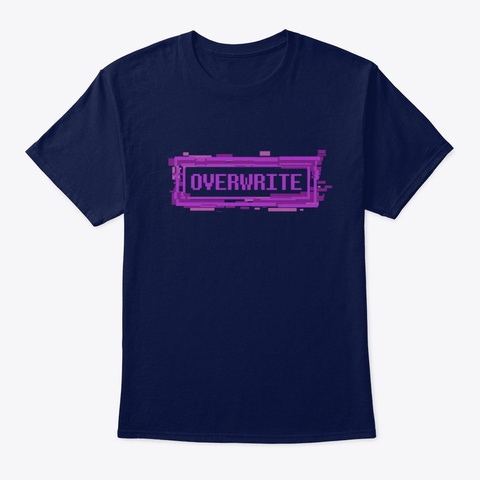 Overwrite Navy Camiseta Front