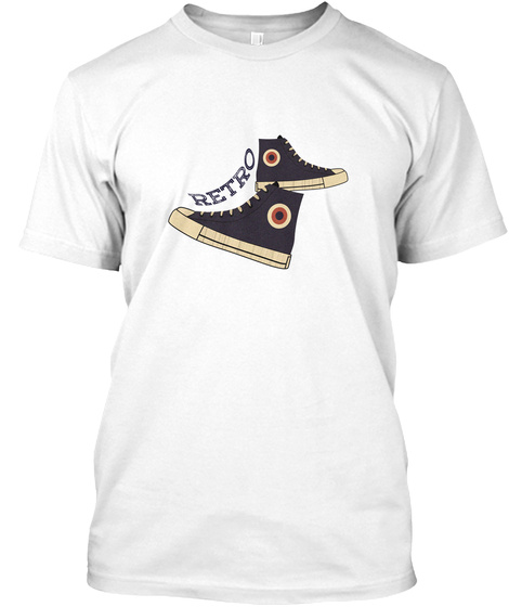 Sneaker Retro Ellesson White T-Shirt Front
