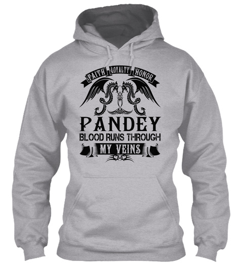 Pandey   My Veins Name Shirts Sport Grey T-Shirt Front