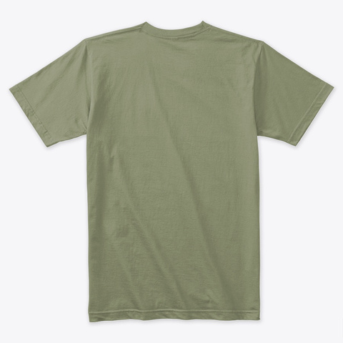 Tshirt Motivational | The Clock Light Olive T-Shirt Back