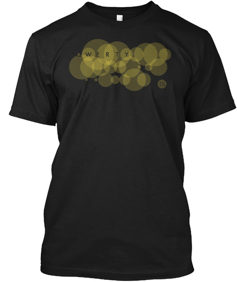 Qwerty Letter Frequency Black T-Shirt Front
