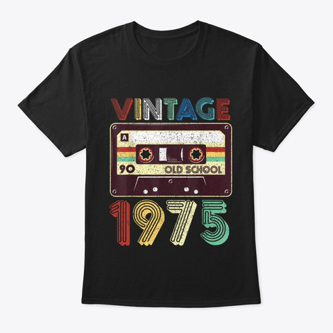 44th Birthday Gift Vintage Classic Black T-Shirt Front