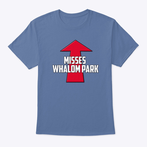 Misses Whalom Park   This Guy This Girl Denim Blue T-Shirt Front