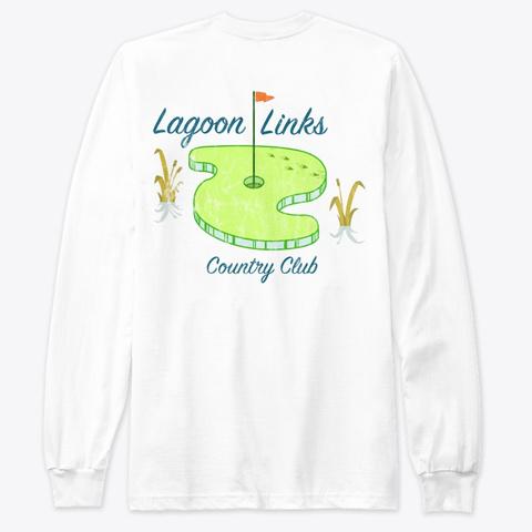 Lagoon Links Golf White T-Shirt Back