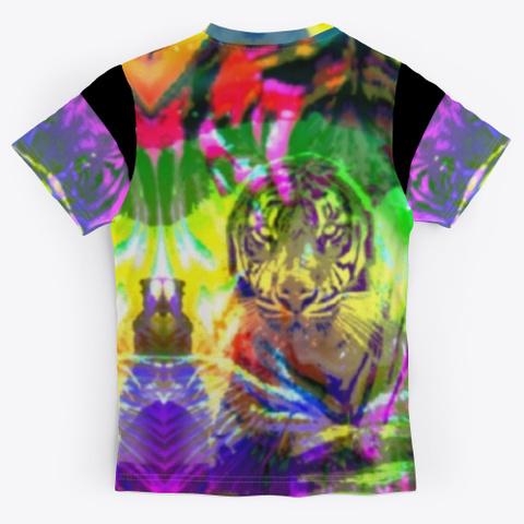 Bc Cat Tiger1122 Black T-Shirt Back
