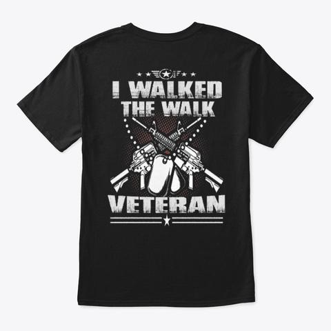 Veteran   Soldier   Military   Vet   212 Black T-Shirt Back