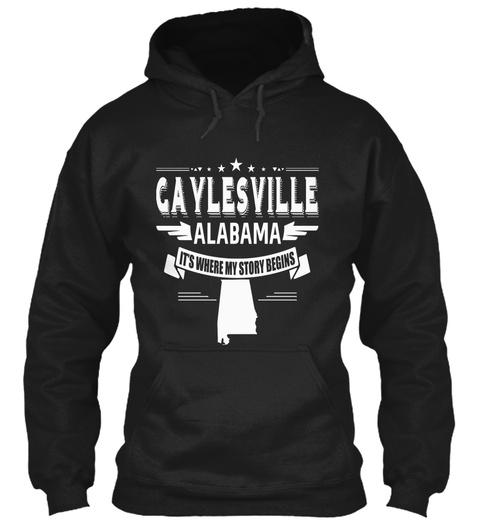 Gaylesville Alabama Black T-Shirt Front