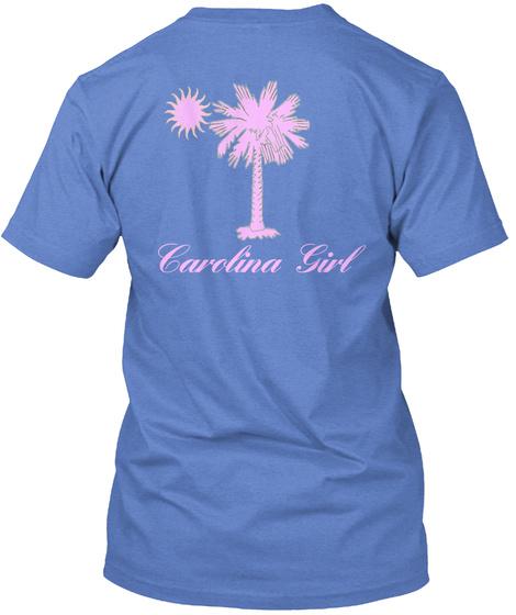 Carolina Girl Heathered Royal  T-Shirt Back