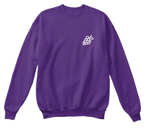 Original 'grape' Crewneck Purple Sweatshirt Front