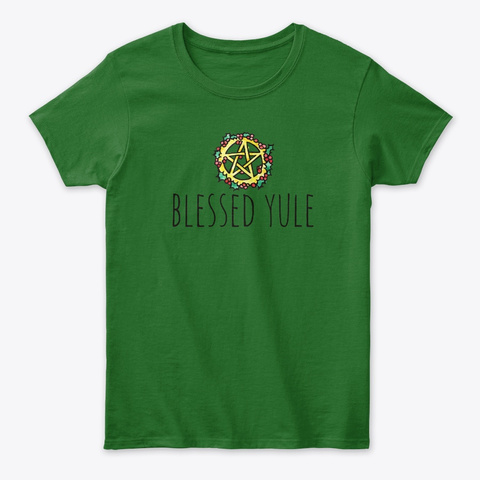 Blessed Yule Irish Green T-Shirt Front