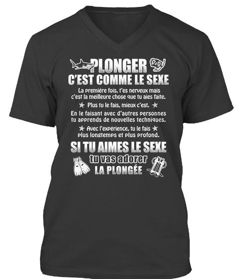 Plongeur Sexe   édition Limitée !  Black T-Shirt Front
