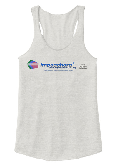 Impeachara Eco Ivory  T-Shirt Front