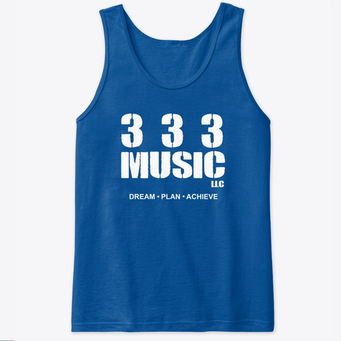 333 (White Logo) Tanks Tops  Royal T-Shirt Front