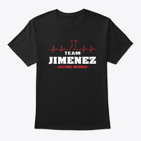 Team Jimenez Lifetime Member T Shirts Black T-Shirt Front