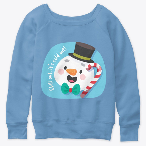 Jolly Old Frosty The Christmas Snowman Blue Triblend  T-Shirt Front
