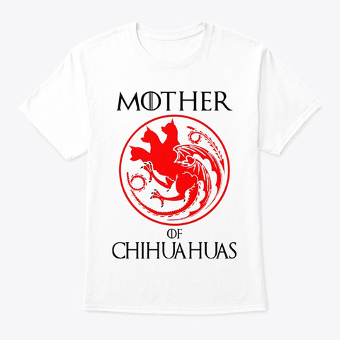 Chihuahua Copy 1 White T-Shirt Front