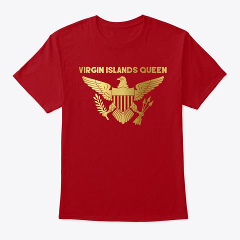 Virgin Islands Queen Tee Deep Red T-Shirt Front