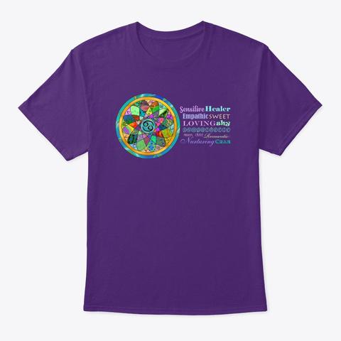 Cancer Astrology Mandala Shirt Purple T-Shirt Front