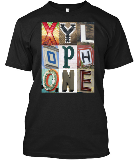 Xylophone Black T-Shirt Front