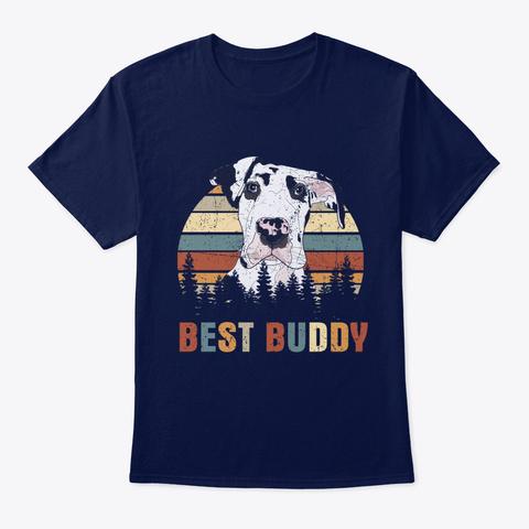 Best Buddy Great Dane Navy T-Shirt Front