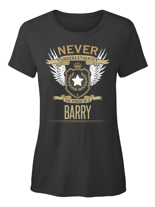 Great-gift-Barry-The-Power-Of-Never-Underestimate-A-T-shirt-Elegant-pour-Femme