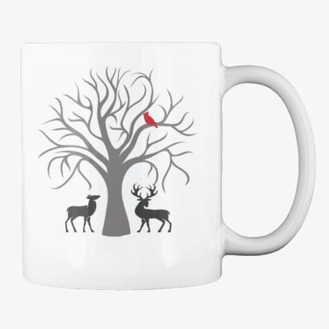 Naughty Or Nice Coffee Mug White T-Shirt Back