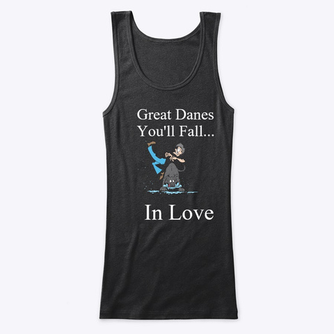 Fall In Love With Blue Black T-Shirt Front