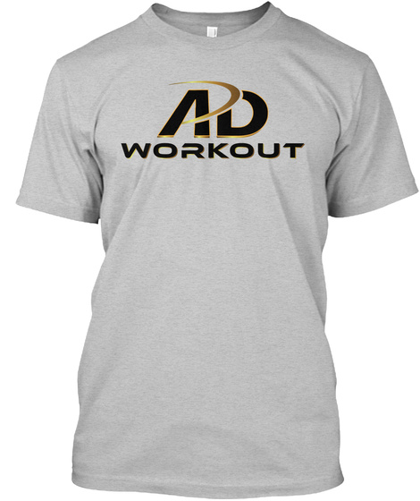 Ad Workout Light Heather Grey  T-Shirt Front