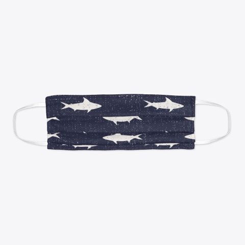 Cute Sea Life Illustration Mask Standard T-Shirt Flat
