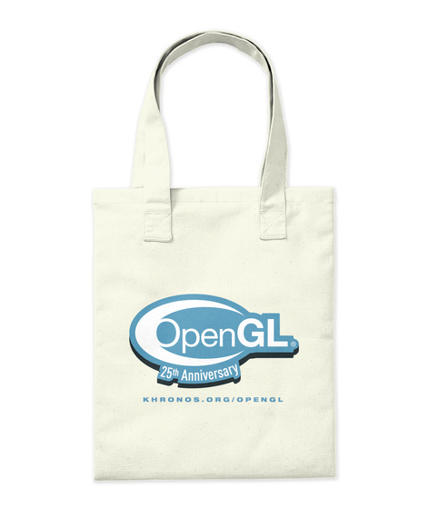 Opengl 25th Anniversary Khronos.Org/Opengl Natural Tote Bag Back