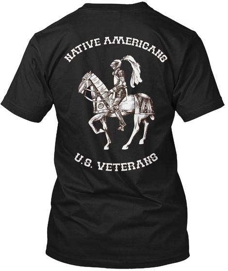 U.S. Veterans   Limited Edition! Black T-Shirt Back