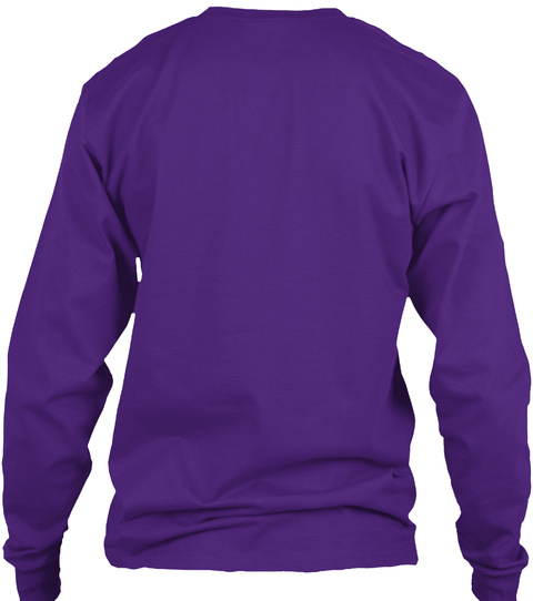"""Faith Moved Me"" Purple Long Sleeve T-Shirt Back"