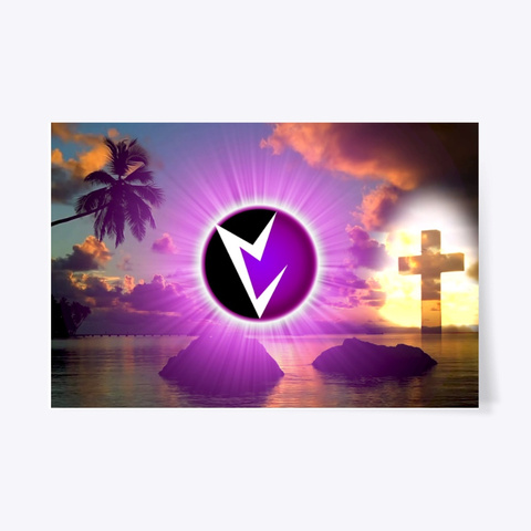Vril Sunset Emblem Cross Poster Standard T-Shirt Front