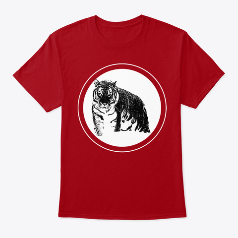 Black Tiger Deep Red T-Shirt Front
