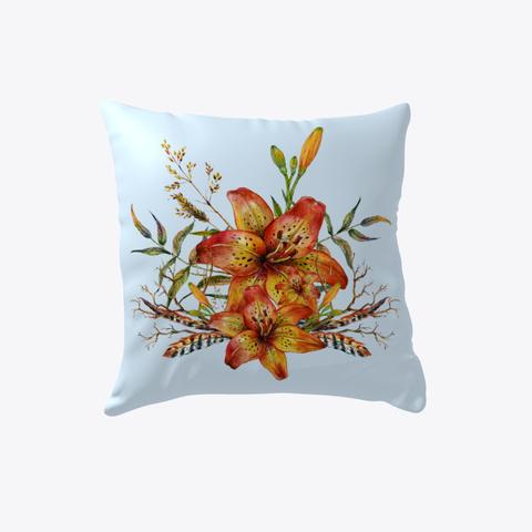 Tiger Lily Bouquet V2   Pillow Pale Blue T-Shirt Front