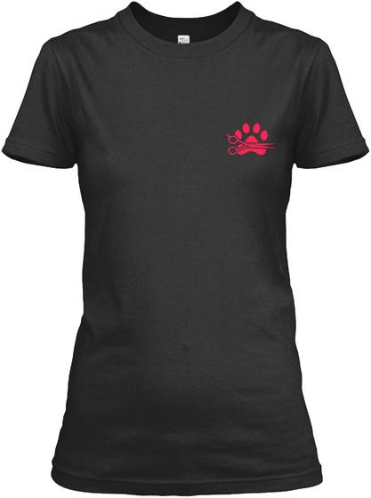 Proud Dog Groomer Shirt Black T-Shirt Front
