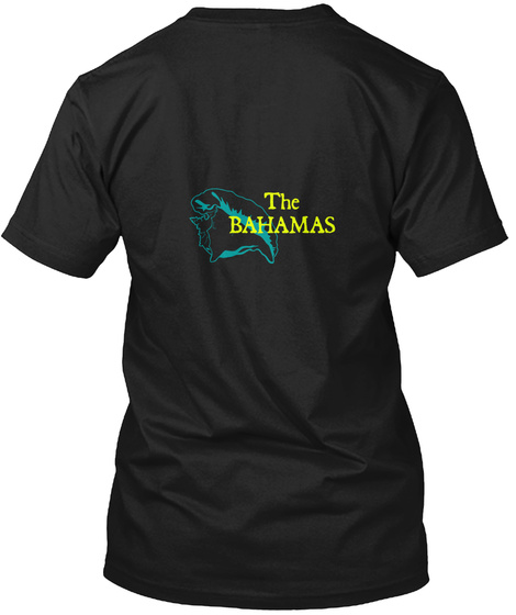 The Bahamas Black T-Shirt Back