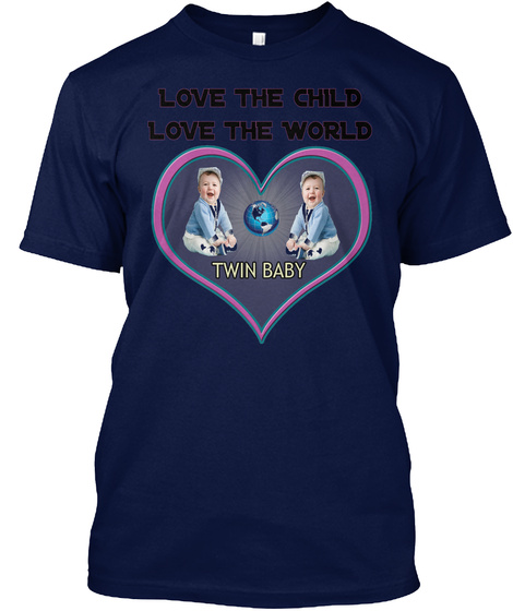 Love The Child Love The World Navy T-Shirt Front