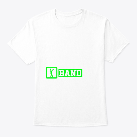 Eat Sleep Trumpet Repeat | Marching Band White T-Shirt Front