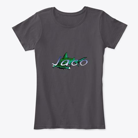 Jaco Beach Costa Rica Shark Heathered Charcoal  T-Shirt Front