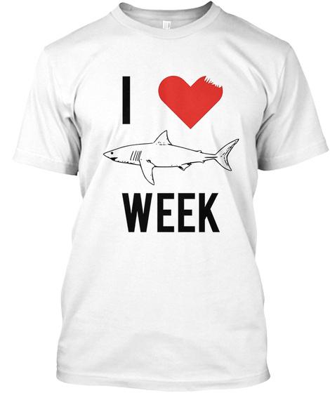 I Love Shark Shirt White T-Shirt Front